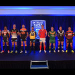The Captains of all four Intrust Super Premiership Clubs stand awkwardly in front of the cameras at the official launch on Tuesday.