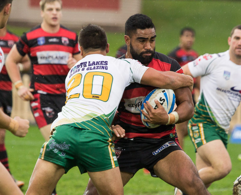 North Sydney's Tautalatasi Tasi had a try held up in the first half of the NRL trial between The Rabbitohs & Sea Eagles