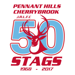 Pennant Hills-Cherrybrook Stags Rugby League 50 Years Logo
