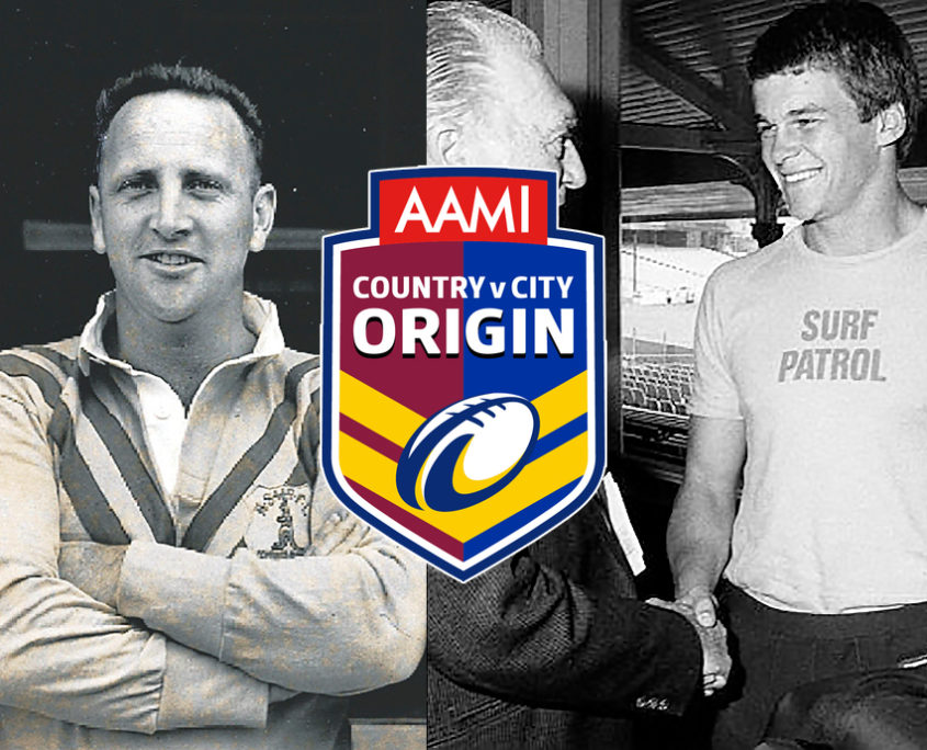 Image: Country boys Brian Carlson (left) and Rex Wright , with Country Vs City logo.
