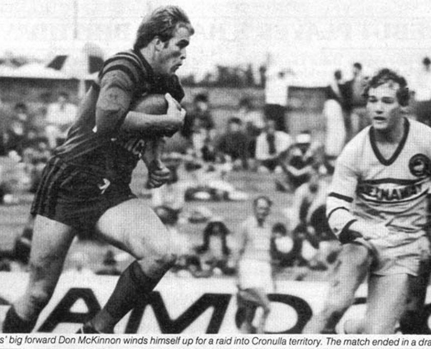 Image: North Sydney and Kangaroo representative Don McKinnon.