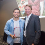 Image: Left Player of the Year Cheyne Whitelaw, with Coach Ben Gardiner. | North Sydney Bears Presentation Awards Night | Norths Cammeray | 22/09/2017. Photo Steve Little. www.redandblackzone.com.