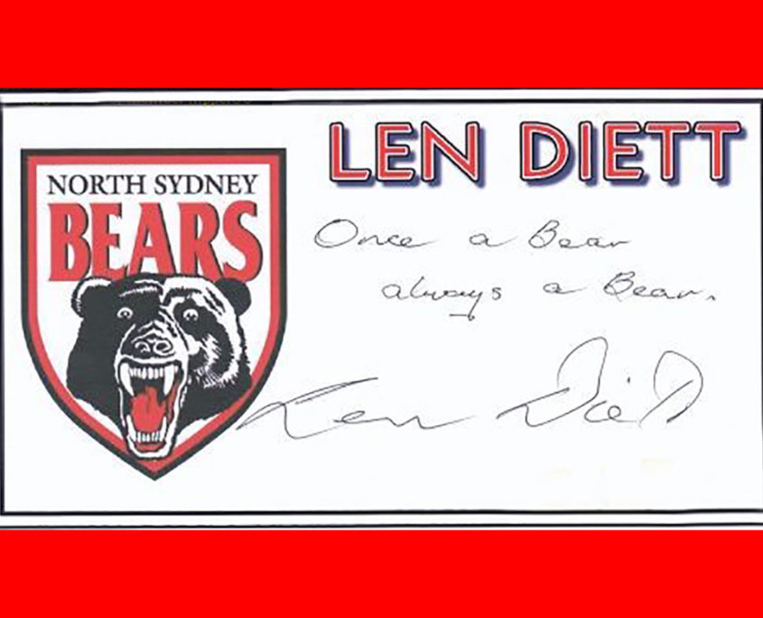 Once a Bear always a Bear - signed Len Diett