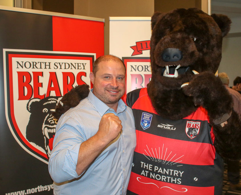Mark Richie (from Phat Sourcing) with Barney the Bear.