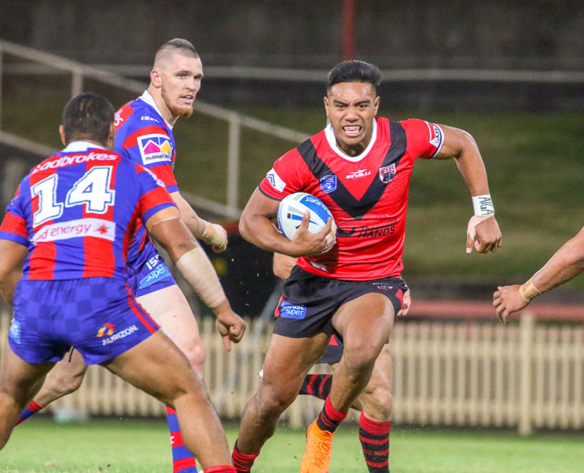 Image: Hymel Hunt for the Bears - Intrust Super Premiership | Round 8 | North Sydney Vs Newcastle. Photo Steve Little.