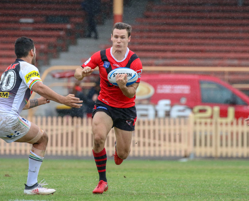 Image: Conor Tracey at halfback for the Bears - North Sydney Vs Penrith | North Sydney Oval. Photo Steve Little.