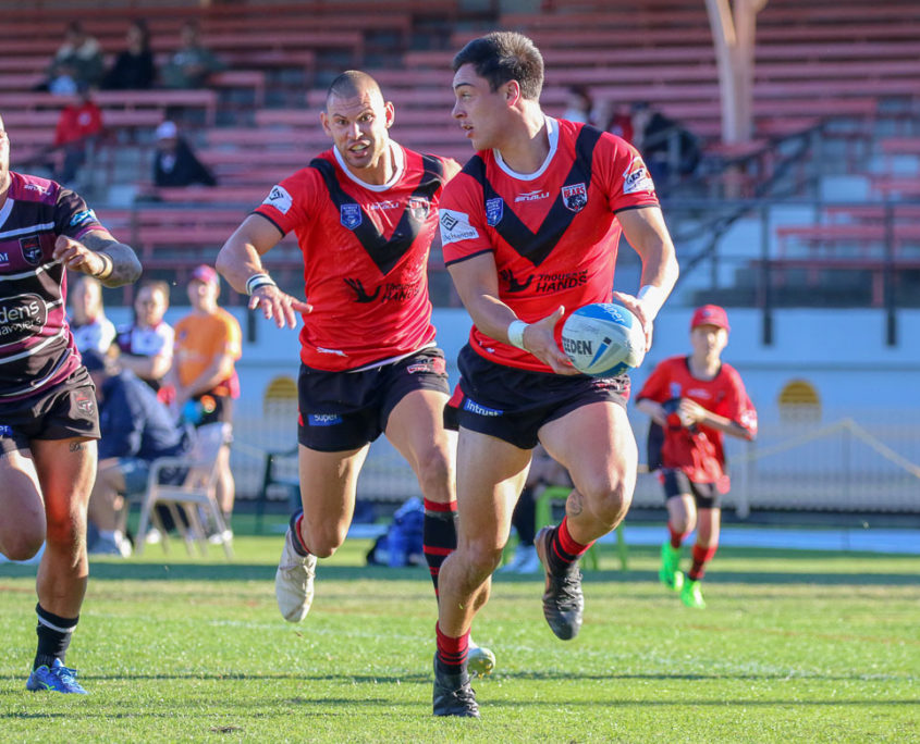 Image: Curtis Johnston & Mawene Hiroti - Intrust Super Premiership | North Sydney Vs Blacktown | North Sydney Oval. Photo Steve Little.