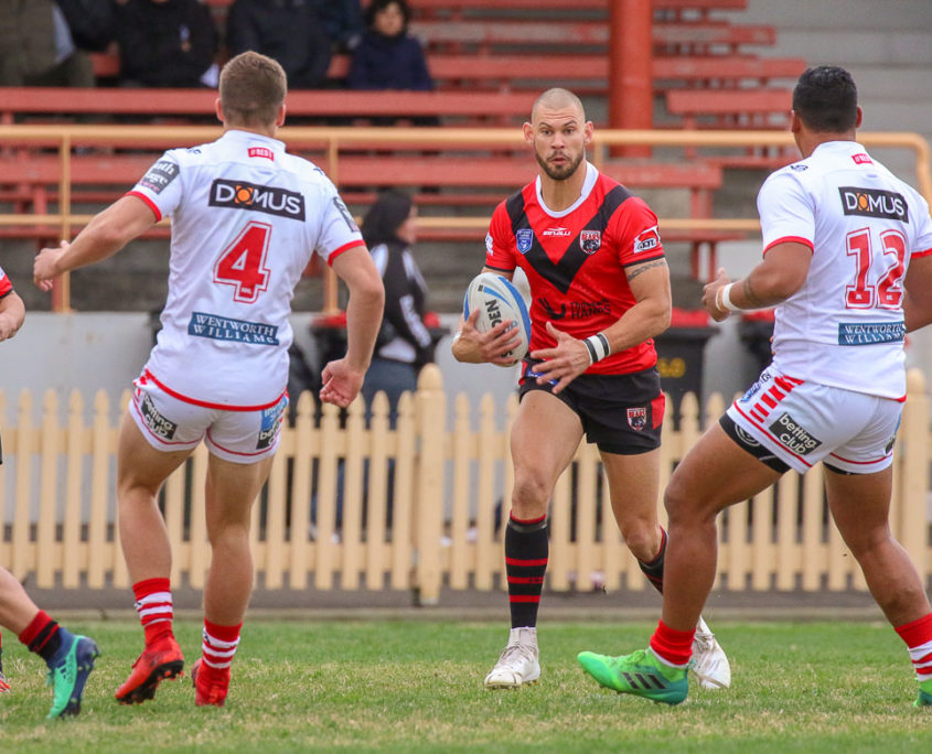 Image: Curtis Johnston - Intrust Super Premiership | North Sydney Vs St George Illawarra | North Sydney Oval. Photo Steve Little.